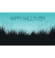 Halloween backgrounds grass of silhouette vector image