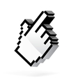 Hand arrow cursor vector image