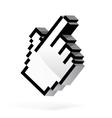 Hand arrow cursor vector image vector image