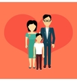 Happy Family Concept Banner Design vector image