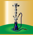 hookah with pipe for smoking tobacco and shisha vector image