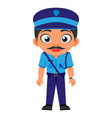 indian man police inspector indian police service vector image vector image