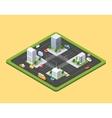 isometric urban city vector image vector image