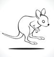 kangaroo 2 vector image vector image