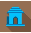 Kids playground house icon flat style vector image vector image