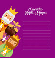 letter to the three kings of orient celebration vector image vector image