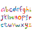 lower case fun alphabet vector image