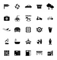 Map place icons on white background vector image