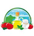 mediterranean food vector image vector image
