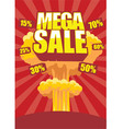Mega sale vector | Price: 1 Credit (USD $1)