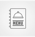 menu icon sign symbol vector image