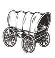 monochrome wild west wagon concept vector image