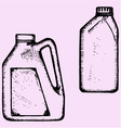 motor oil plastic bottle vector image vector image