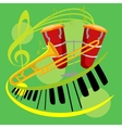 music icon collection vector image
