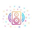 music speaker surrounded festive decor vector image