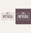 nevada state textured vintage t-shirt and vector image