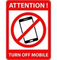 No phone telephone prohibited symbol vector image