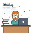 person working office icon vector image