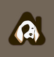 pet house logo vector image vector image