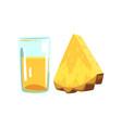 pineapple fruit juice glass of natural vegetarian vector image vector image