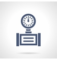 Pipe gauge glyph style icon vector image vector image