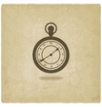 retro pocket watch old background vector image vector image