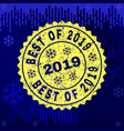 rubber best of 2019 stamp seal on winter vector image vector image