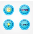 set glossy internet icons vector image