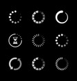 set icons loading progress vector image