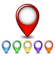Set of bright map pointer icon vector image