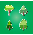 set of color icons with trees vector image vector image