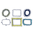 set of multicolored frames vector image vector image