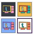 Set of unusual look tumblr social media icons