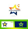 Star logo company icon set vector image vector image