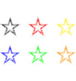 star set stars of different colors vector image vector image