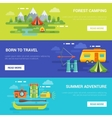Summer Tourist Adventures Horizontal Banners vector image vector image