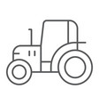 tractor thin line icon farm and agriculture vector image vector image