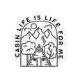 Vintage adventure line art badge