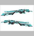 vinyls sticker set decals for car truck mini bus vector image vector image