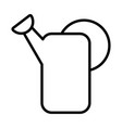 watering can line style icon vector image vector image