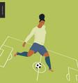 womens european football soccer player vector image vector image