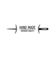 Retro Handmade hand sewing and tailor shop vector image