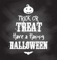 chalkboard Halloween background vector image