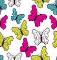 Seamless butterfly pattern vector image