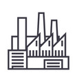 factoryproductionpipes with smoke line vector image