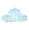 Information Cloud vector image