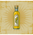 Retro Olive Oil Bottle vector image