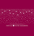 abstract falling snow particles burgundy pink vector image vector image