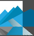 abstract mountains and road flat design vector image vector image