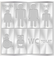 aluminium toilet sign men and women wc plate vector image vector image